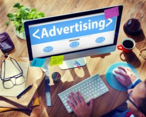 Digital Online Webpage Advertising Marketing Concept